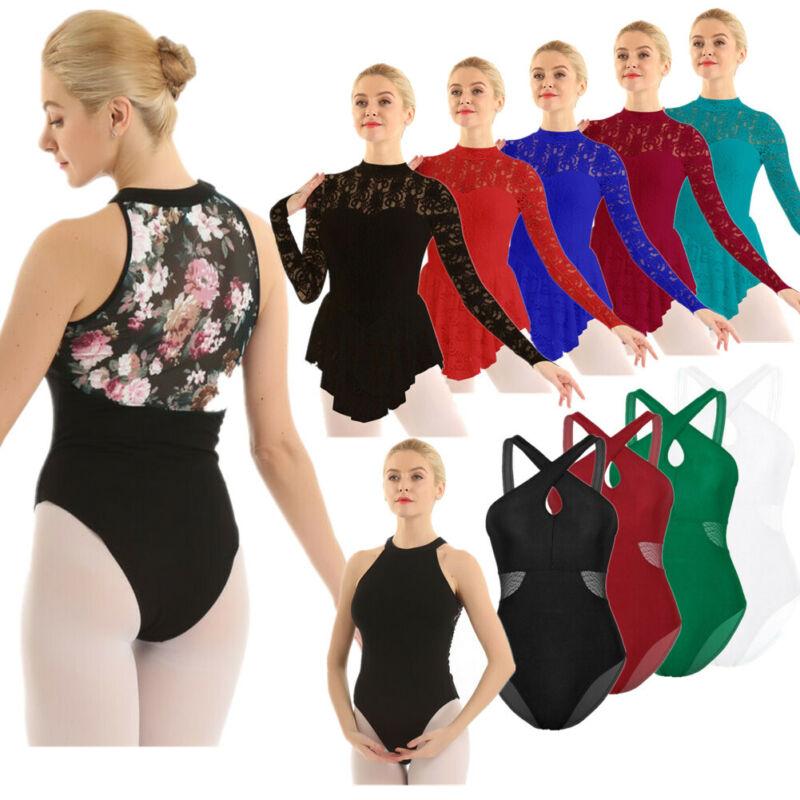 Women/'s Gymnastics Contemporary Ballet Leotard Dance Wear Dress Bodysuit Costume