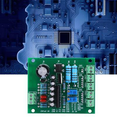 Dual Stereo Vu Meter Driver Board Amplifier Db Audio Level Meter Ac 12v Us