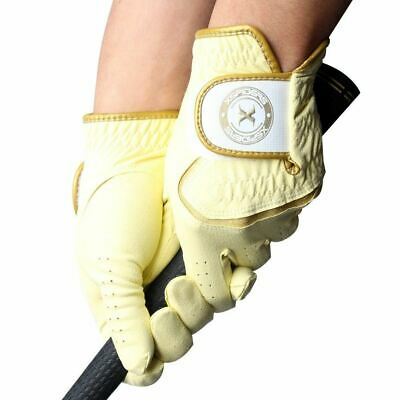 Yellow Womens Golf Glove - XSpiderRAIN Women's Golf glove Yellow Microfiber - Sweat Rain Wet WASHABLE +Gift