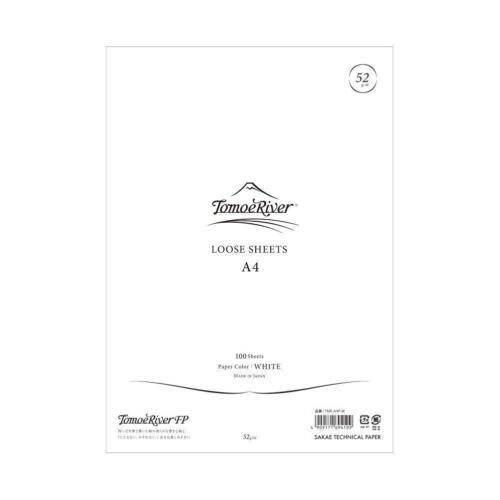 """SAKAE Tomoe River FP Loose Sheet, 8.27 x 11.7"""", 100 Sheets/Pack, White TMR-A4P-W"""