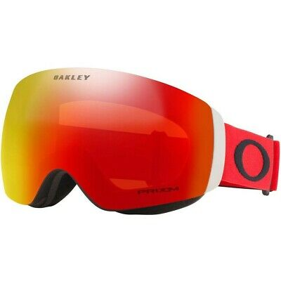 Oakley Flight Deck XM Adult Ski Goggles Red/Black with Prizm Torch Snow Lens
