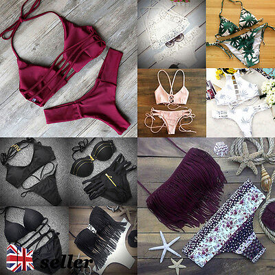 UK Sexy Women  Push-up Padded Swimwear Bikini Set BrazilianBathing Suit Swimsuit