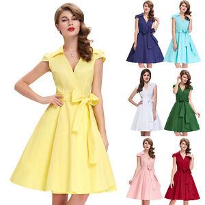 mode robe vintage ann es 39 70 ans de soir e femme stretch 9 couleur s xl ebay. Black Bedroom Furniture Sets. Home Design Ideas