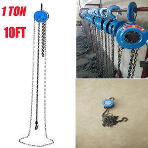 1 Ton Heavy Duty Chain Block Tackle Hoist Garage Engine Lifting Tool Lightweight
