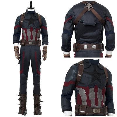 Avengers 3:Infinity War Captain America Cosplay Steven Rogers Uniform Costume