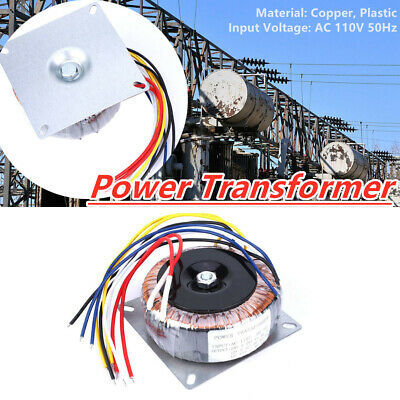 Ac 110v To Dual Ac 12v 28v Single 12v Copper Plastic Toroidal Transformer Us