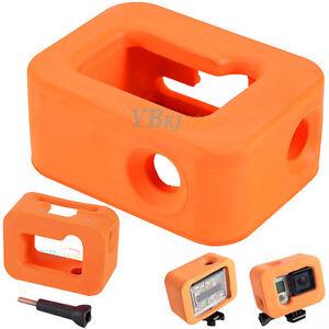 Orange Water Floating Float Floaty Soft Case Skin Housing for GoPro Hero 4 3+