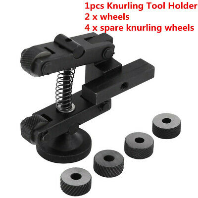 Knurling Tool Holder Linear Knurl Tool Lathe Adjustable Shank 4pcs Wheels Ce