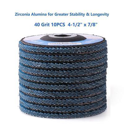 4.5 4-12x78 Zirconia Flap Sanding Disc Grinding Wheel Sander Sandpaper Wheel