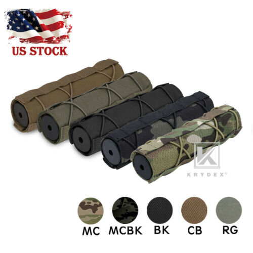 KRYDEX 7inch 18cm Silencer Cover Muffler Head Protector Suppressor Cover Airsoft