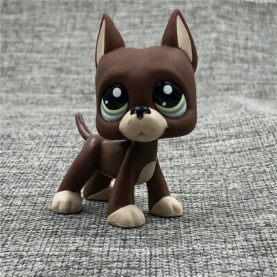 Littlest Pet Shop LPS #1519 Collection Great Dane Dog Green Eyes Rare Boys Gift