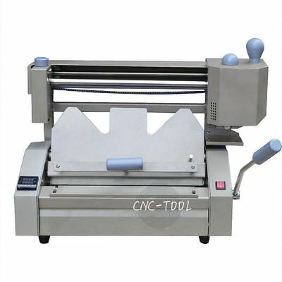 A4 0.1-40mm Desktop Manual Hot Melt Glue Binder Binding Machine 220v