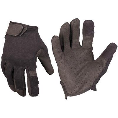 Mil-Tec Bestrijding Touch Handschoenen Security Militaire Openingen Gear Zwart