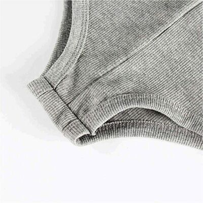 Women s Sexy Deep V Neck Shorts Long, Long Sleeves-gray, Size Large Bu2k - $13.99
