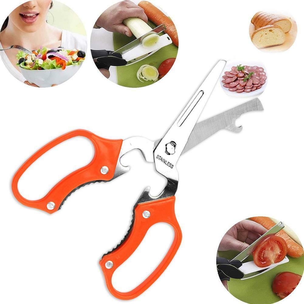 Multifunction Kitchen Cutter Shears Scissor Portable 8 Duty