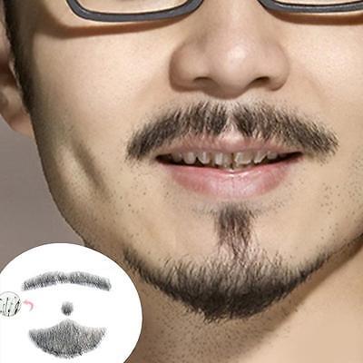 Pro Fake Beard Man Mustache Word Simulation 100% Human Hair Full Hand Tied Set (Fake Beard Hair)
