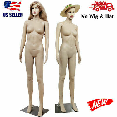 Female Full Body Pp Realistic Mannequin Display Head Turns Dress Form Body Model