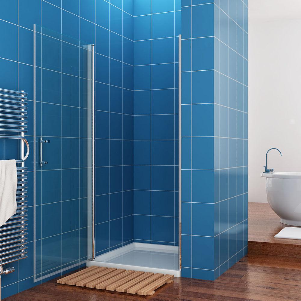 Frameless Pivot Hinge Shower Door Glass Screen Reversible