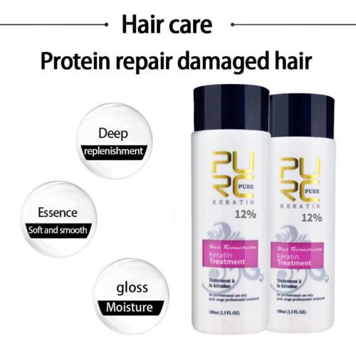 PURC Keratin treatment Straightening Hair Repair Damage Frizzy Hair repair