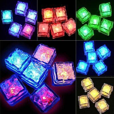 LED Light Ice Cube Luminous Glowing Cubes Lights Party Decorations 12 pcs Set](Ice Cube Lighting)