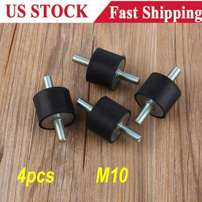 4 Pcset Rubber Vibration Isolator Mounts M10 Damping Noise For Welding Machine