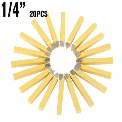 20pcs Carbide Tip Tipped Cutter Tool Bit Cutting Set For Metal Lathe Tooling New