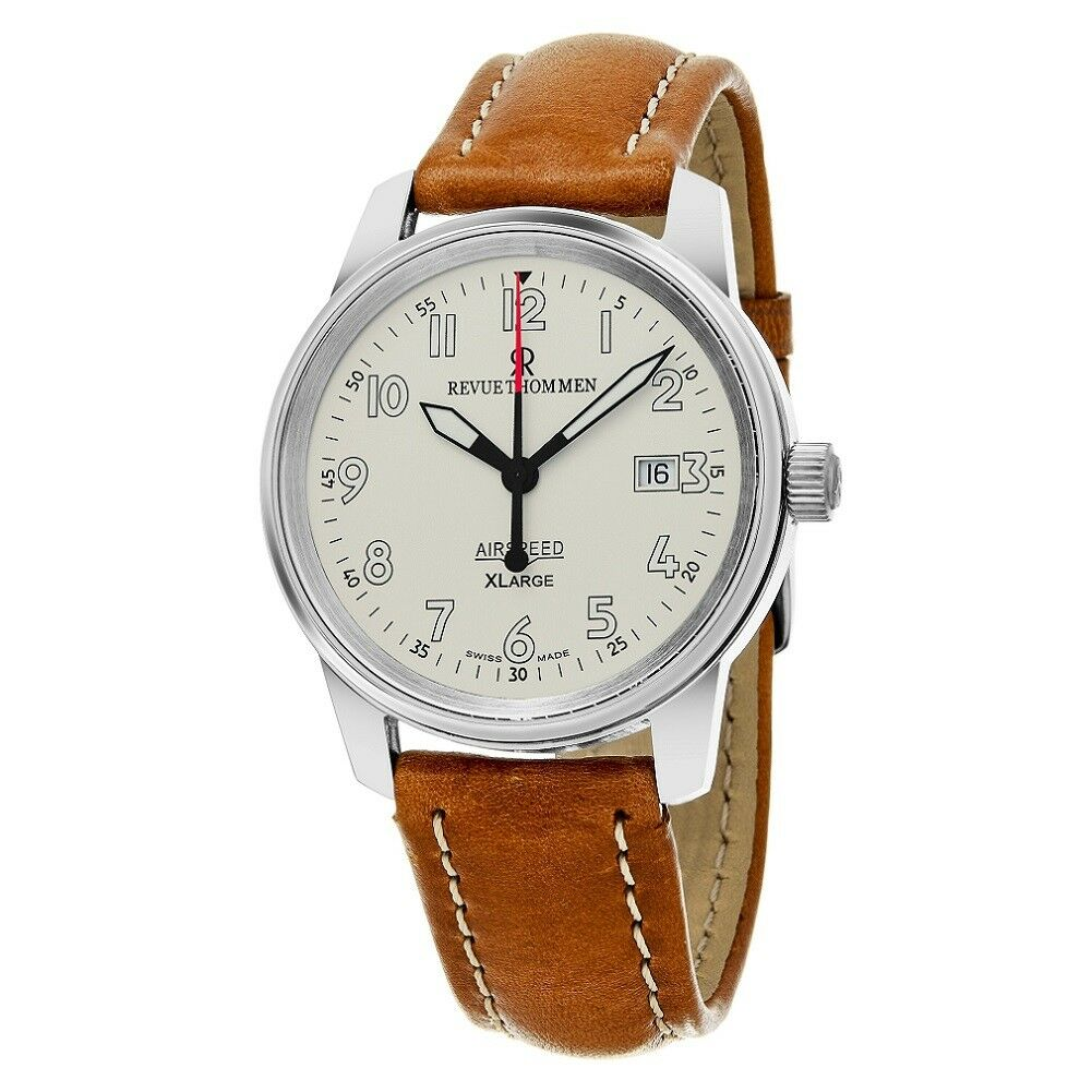 Revue Thommen Airspeed XLarge Mens Swiss Made Automatic Military Watch NEW