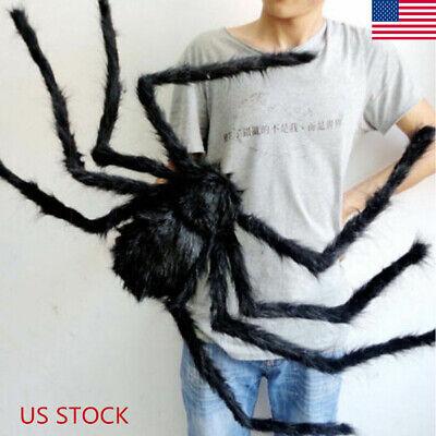 Halloween Spider Prop (Spider Halloween Decoration Haunted House Prop Indoor Outdoor Black Giant)