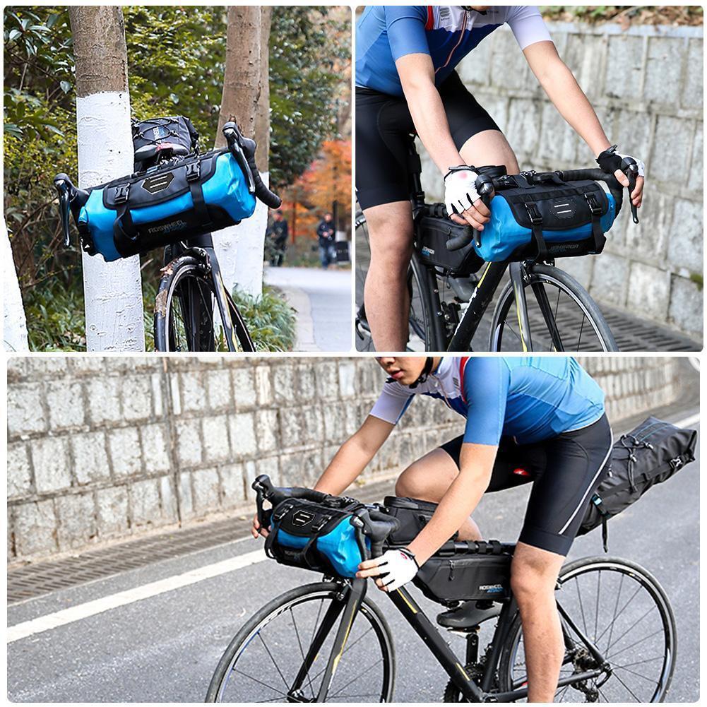 Bike Bicycle Cycling Outdoor Front Basket Pannier Frame Tube Handlebar Bag RS