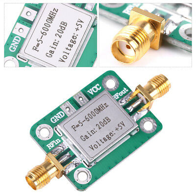 5mhz6ghz Rf Broadband Signal Amplifier Power Amplifier Gain 20db Vfh Uhf Fine