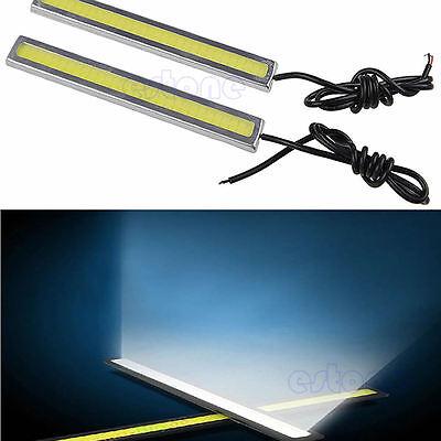 2x Super Bright COB White Car LED Lights 12V for DRL Fog Driving Lamp Waterproof