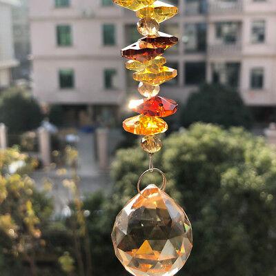 5IN Champagne Chandelier Crystal Ball Prism Suncatcher Window Decor DIY - Diy Suncatchers