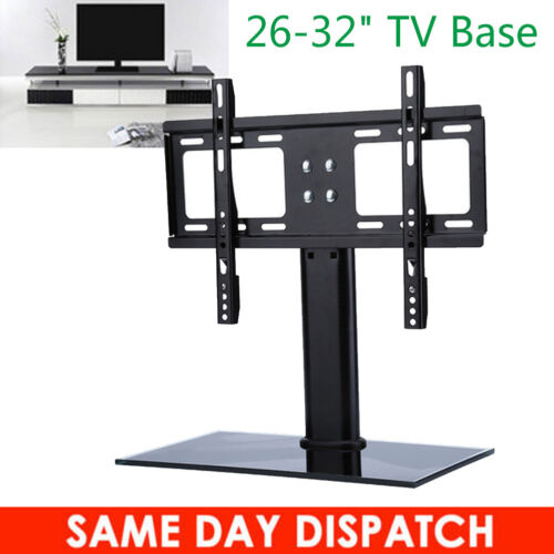 "Table Top Replacement Tv Stand Pedestal Base Fits 26-32"" For Tv Led Lcd Plasma"