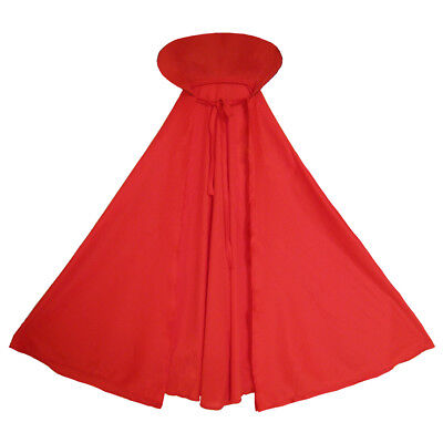 Child Red Cape with Collar ~ HALLOWEEN DEVIL, VAMPIRE, PHANTOM, KING KID - Costumes With Red Capes