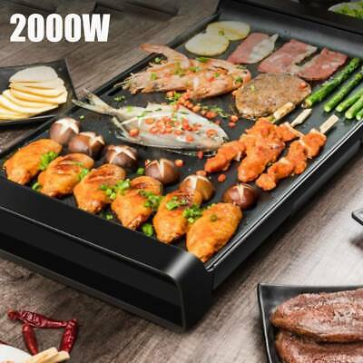 Electric Table Top Grill Pan Griddle BBQ Hot Plate Non-stick Smokeless Aluminum
