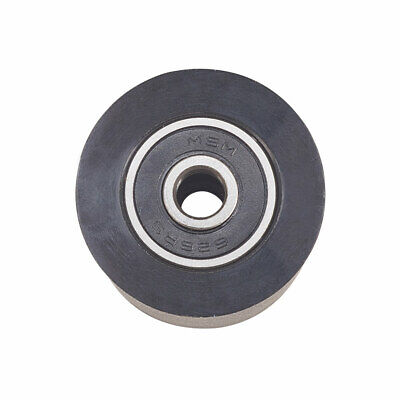 Nylon Pulley Wheel Bearing Round Flat Embedded Guiding Rail Sliding Door Black