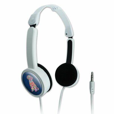 Mosaic Lab Labrador Puppy Dog Novelty Travel Portable On-Ear Foldable Headphones