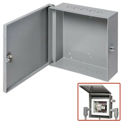 Arlington Outdoor Electric Cabinet Enclosure Box Heavy Duty Plastic 7 X 8 Gray