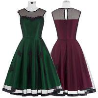 Mujer Nuevo Talla Grande Swing Vintage Ama De Casa Pin-up Vestido Casual Picnic -  - ebay.es