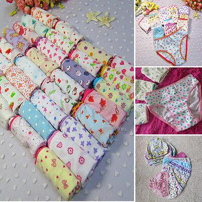 10x Baby Kids Girls Underpants Short Briefs Cotton Panties Underwear Soft 0-9Y