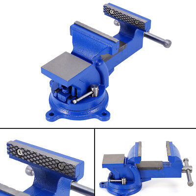 456mechanic Bench Vise Table Top Clamp Press Locking Swivel Workbench Us