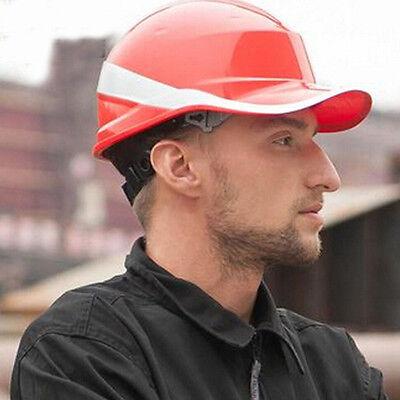 Full Brim Hard Hat Construction Safety Work Helmet Ratchet Suspension Hot