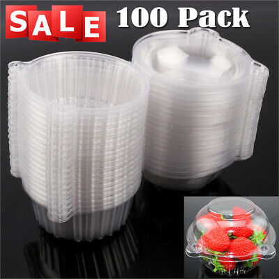 Plastic Cupcake Boxes (100pcs Clear Plastic Cupcake Boxes Cake Packing Boxes Muffin Pod Dome Box)