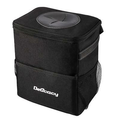 Car Trash Can Waterproof Odor Blocking Car Trash Bag with 3 Storage Pockets Trash Can Odor