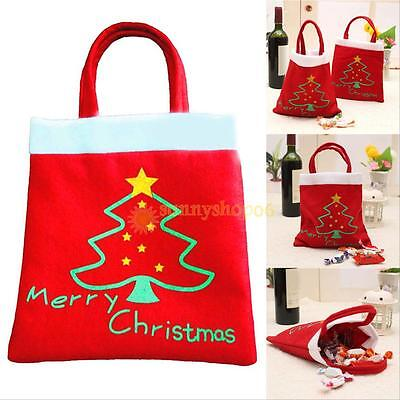 Santa Handbag Christmas Candy Bags Wine Stocking Bottle Gift Bag Xmas Decoration - Christmas Wine Bags
