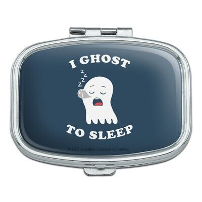 I Ghost to Sleep Goes Funny Humor Rectangle Pill Case Trinket Gift Box
