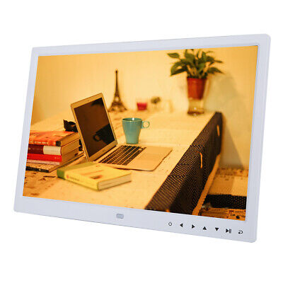 "15"" HD TFT LED Digitaler Foto Bilderrahmen Alarm Clock MP4 Media Video Spieler"