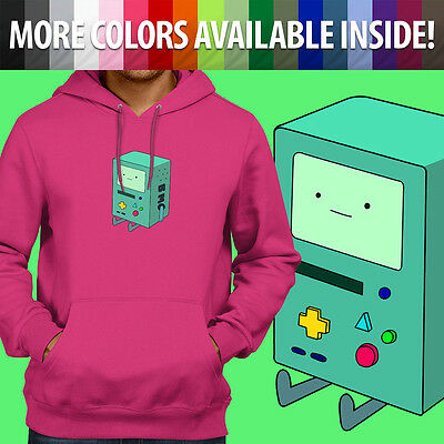 Adventure Time BMO Beemo Video Game Mens Unisex Pullover Hoodie Hooded Sweater