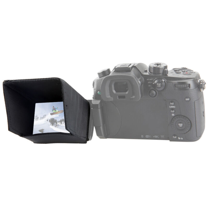 NICEYRIG US LCD Screen Sun Shield Hood for DSLR Panasonic Lumix G9/GH5S/GH4/G85