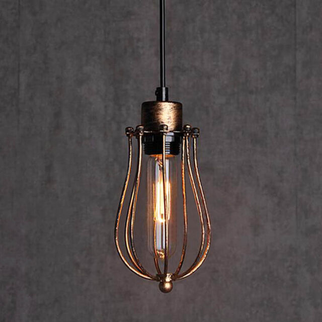 Rusty Rustic Metal Industrial Vintage Retro Pendant Lamp Ceiling Light Fixture